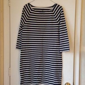 Gap Black & White Striped Dress
